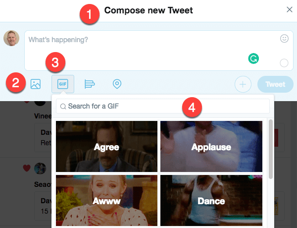 Finding GIFs on Twitter
