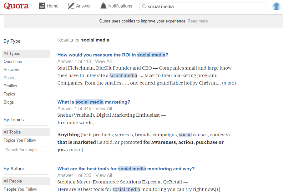 Find Quora questions to answer
