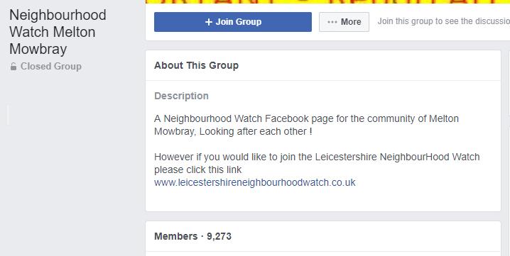 neighborhood watch facebook group