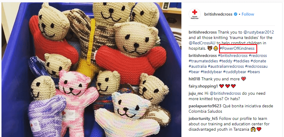 British Red Cross #PowerofKindness Instagram