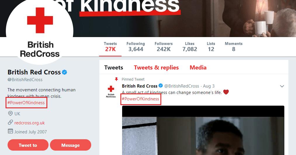 British Red Cross Twitter