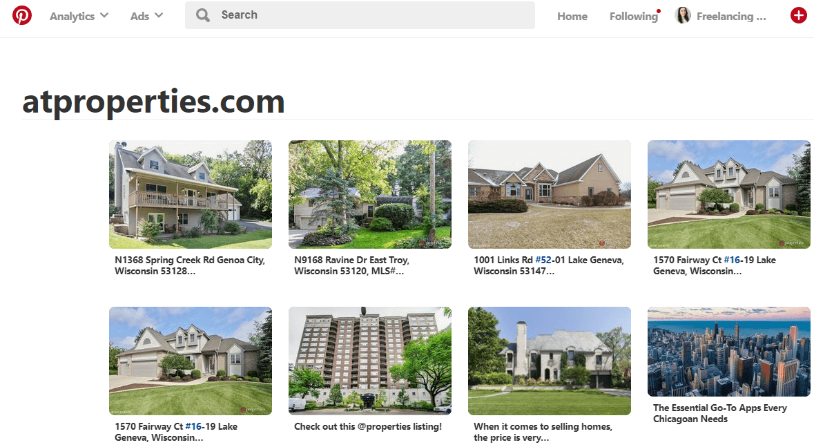 pinterest example for real estate