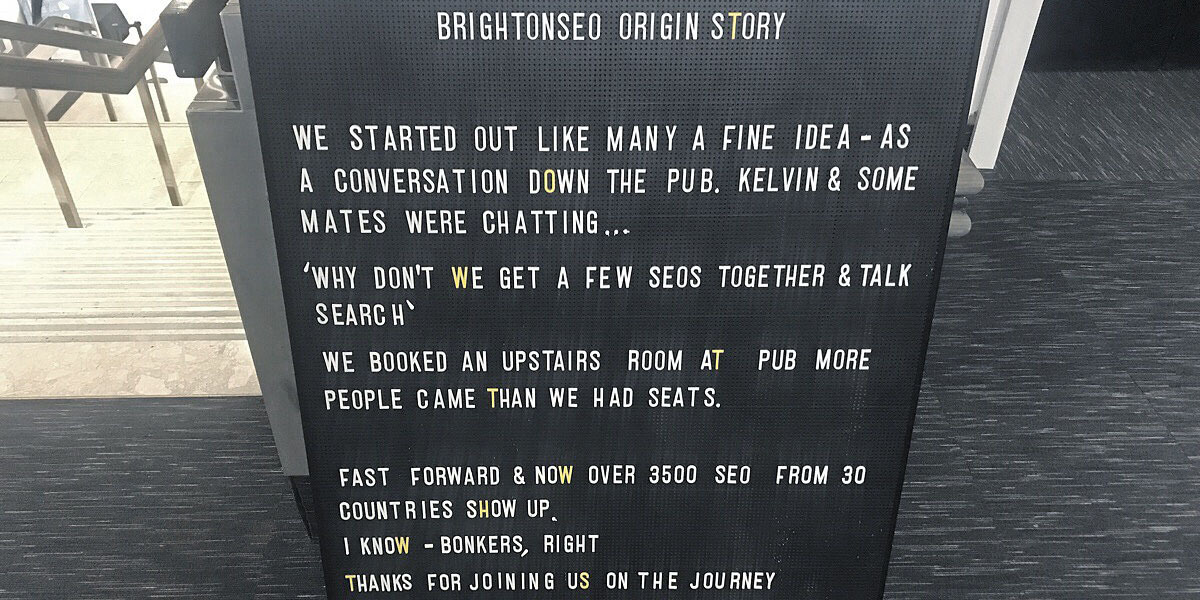brightonseo origin story