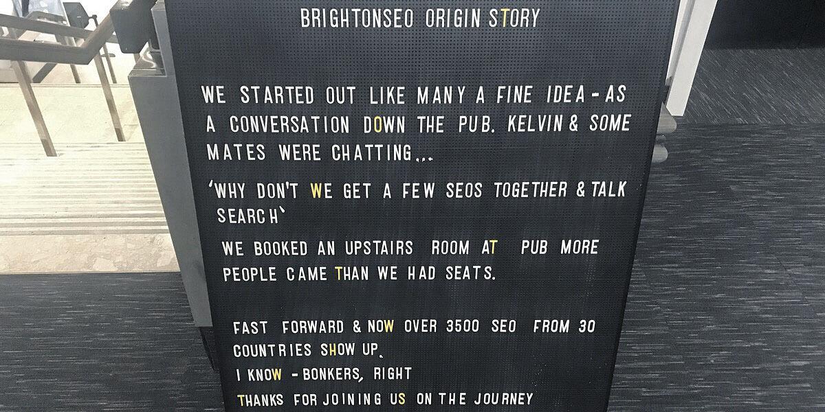 brightonseo origin story