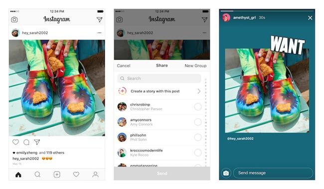 instagram feed to stories