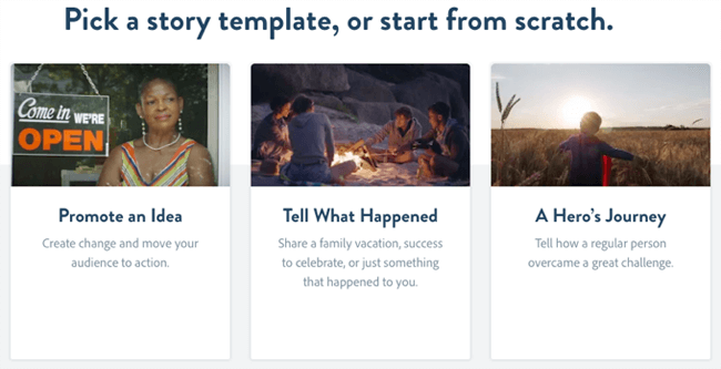 social media graphics spark video template
