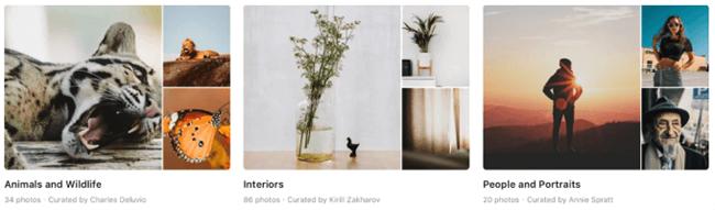social media graphics unsplash collections