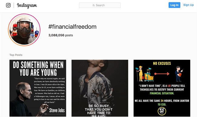 finance blog financial freedom hashtag