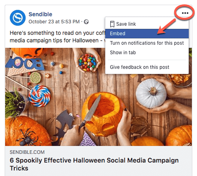 social media experiments facebook embed