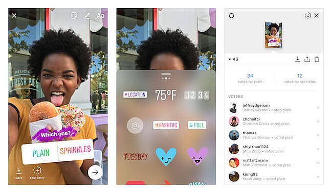 social media experiments instagram poll stickers