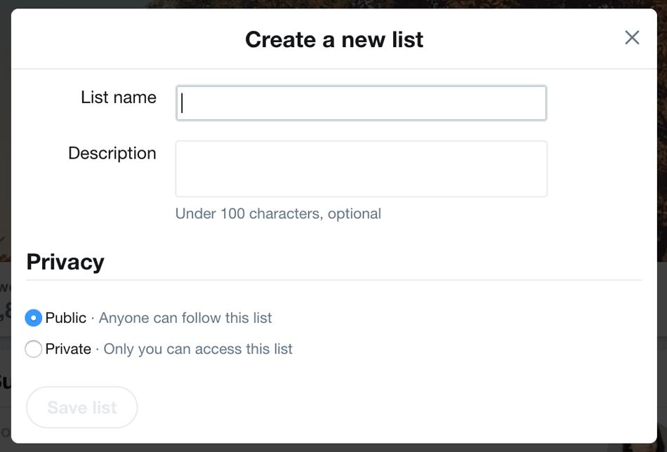 make a twitter list 2