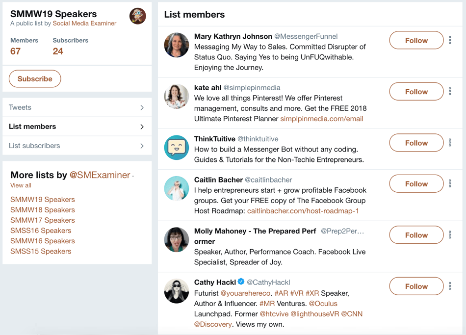 twitter lists smmworld speakers twitter list
