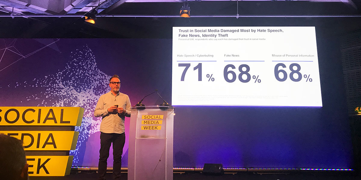 Edelman Barometer 2018 results about trust in social media