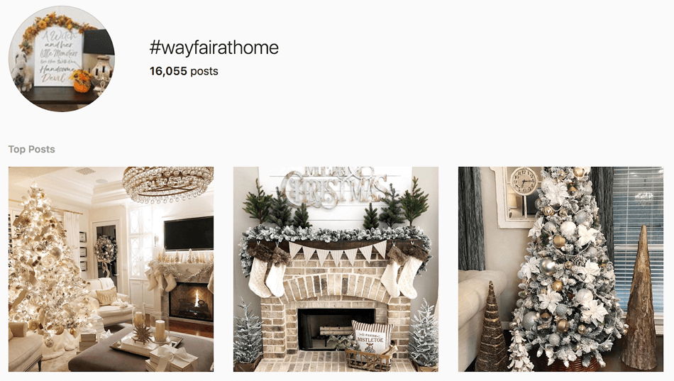 wayfair at home user generated content