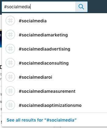 find new linkedin hashtags