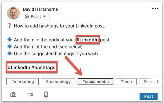linkedin hashtag david