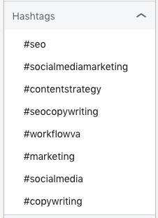 linkedin hashtags show more