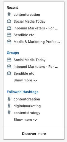 linkedin-navigation-for-finding-hashtags