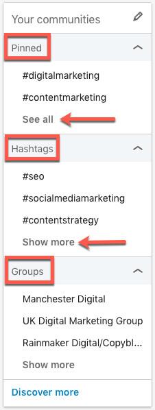 linkedin hashtags your communities