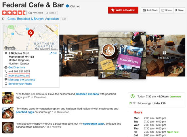 yelp federal cafe