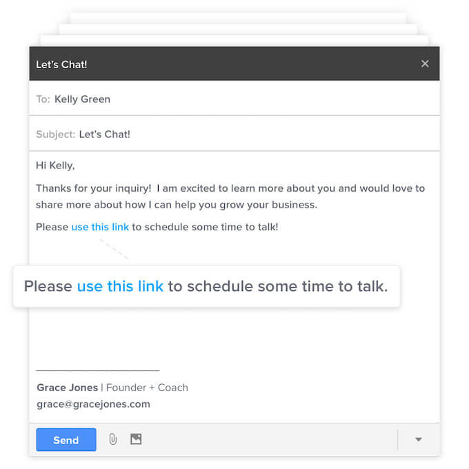 calendly email link