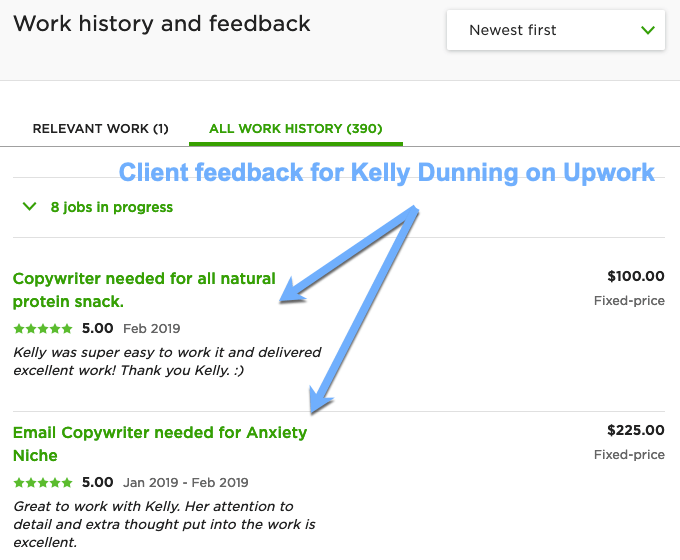 upwork client feedback
