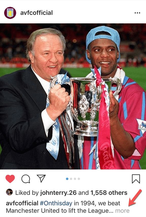 avfc offical more caption