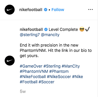 nike instagram caption