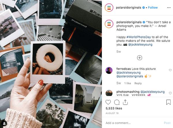 polaroid originals caption