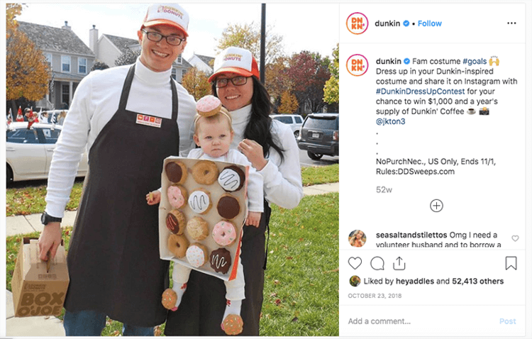 dunkin doughnuts costume competition
