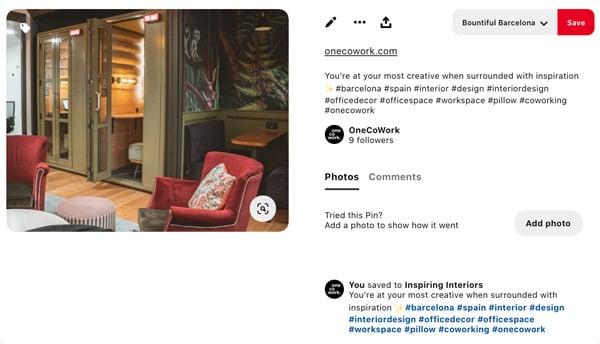 hashtags on pinterest