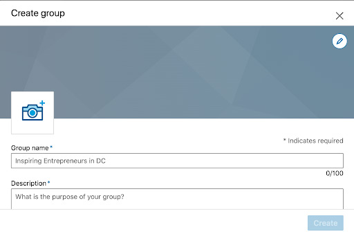 create linkedin group