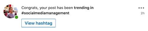 linkedin trending hashtags