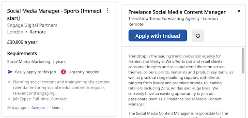 social media freelancer jobs