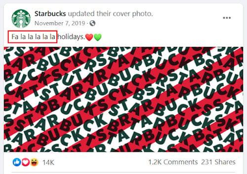 convertible social media tips starbucks christmas