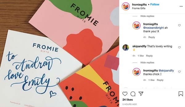 social-media-for-local-business-fromie-gifts