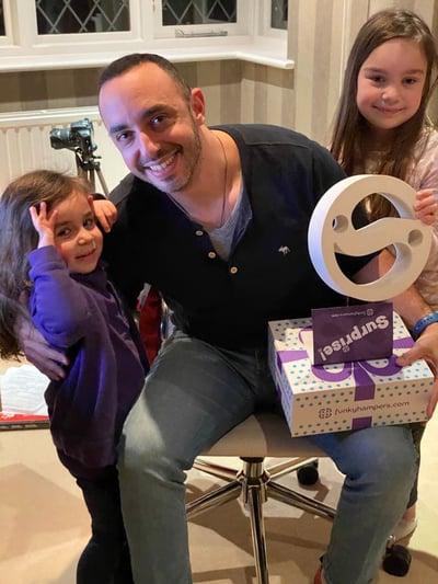 sendible founder gavin and family