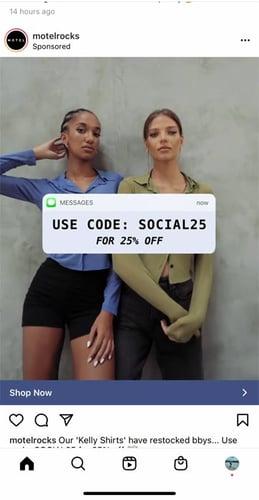 Instagram discount