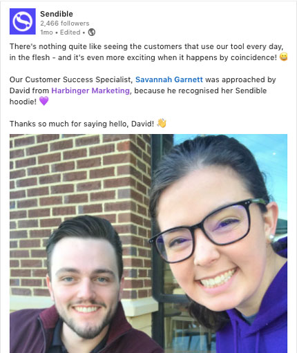celebrating customers on social media