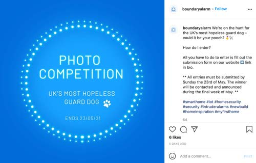 boundary alarms instagram competition