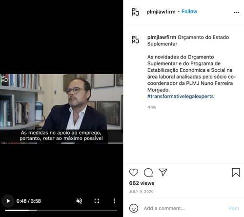 plmj law firm instagram live