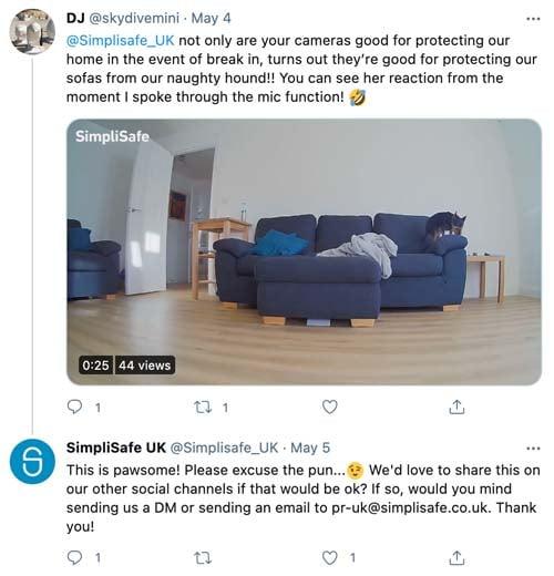 simplisafe twitter customers