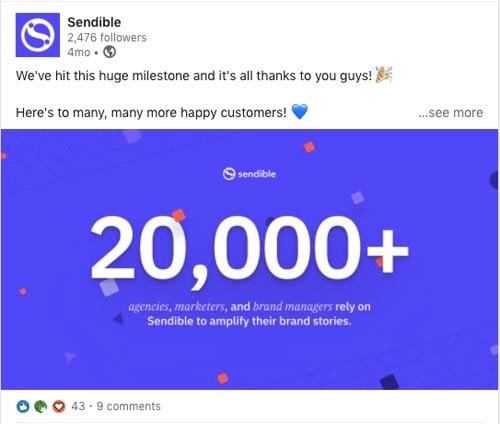 celebrate company milestones