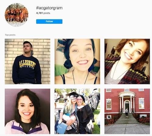 allegheny college instagram user generated content