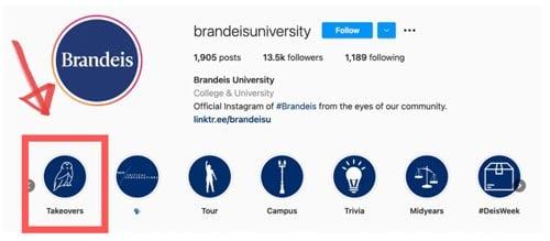 brandeis university instagram takeovers