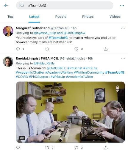 higher-education-marketing-glasgow-university-user-generated-content-hashtag
