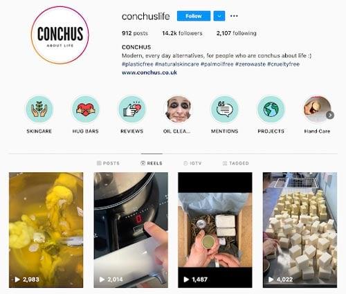 instagram reels conchus