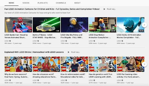 lego youtube channel
