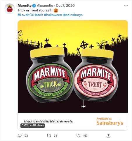 marmite halloween campaign