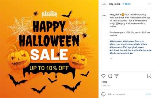 halloween discount promotion